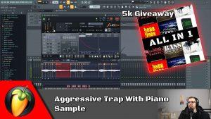 Aggressive Trap With Piano Sample